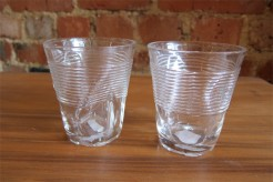 Squashed Cup Glasses