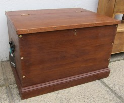 Hardwood Travelling Trunk or Box