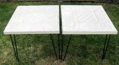 Metal Tile Tables With Hairpin Legs