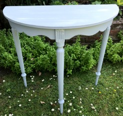 Painted Demi Lune Small Table