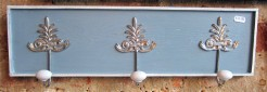 Painted Blue and White Coatrack