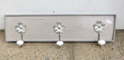 Grey and Taupe Painted Coatrack
