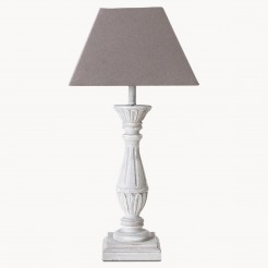 Grey Lamp Base with Dark Grey Square Empire Shade