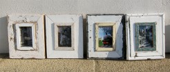 Reclaimed Wood Small Picture Frames Group