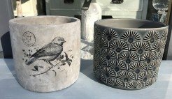 Bird and Fan Planter Pots