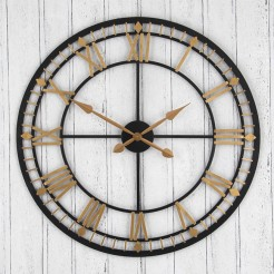 Antique Bronze and Gold Cut Out Clock