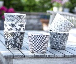 Dutch Style Black and White Pots
