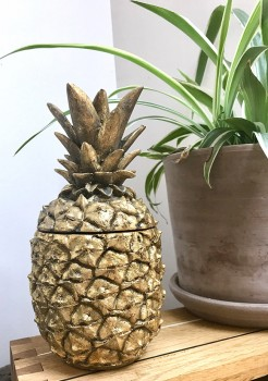 Gold Pineapple Pot