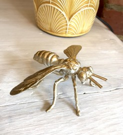 Gold Bee Figurine