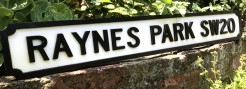 Raynes Park Road Sign SW20