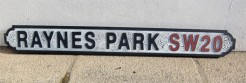 Raynes Park SW20 Road Sign
