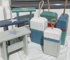 Handmade Doorstops and Wooden Stools