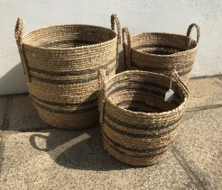 Seagrass Striped Baskets In Three Sizes