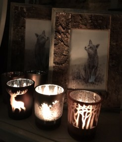 Stag and Trees Tealight Holders