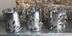 Silver Metallic Tealight Holder
