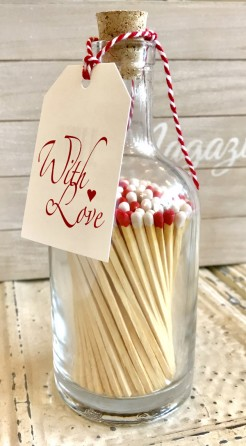 With Love Matches In A Bottle