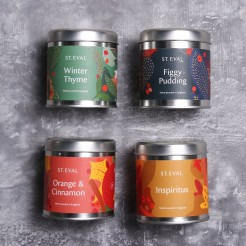 St Eval Christmas Scented Candle Tins