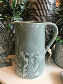 Grey Glazed Ceramic Wood Effect Jug
