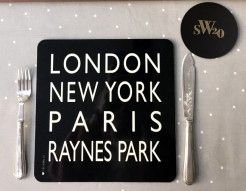 Raynes Park SW20 Table Mat and Coaster