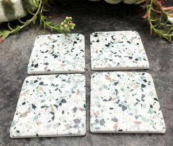 Resin Marble Coaster Sets with Different Patterns