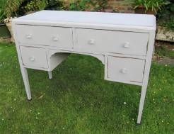 1930s grey painted dressing table