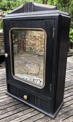 1930s Black and Gold Cupboard