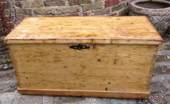 Large Antique Pine Box or Chest
