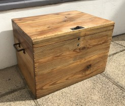 Antique Pine Box with Top Catch