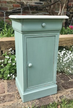 Painted Antique French Bedside Table