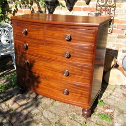 Mahogany Bowfront Chest of Drawers
