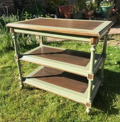 Antique French Painted Drinks Trolley