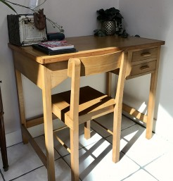 Mid Century Vintage Childs Desk and Chair