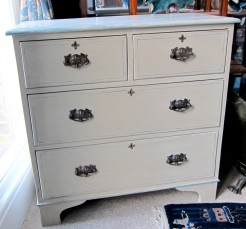 Beige Painted Chest of Drawers