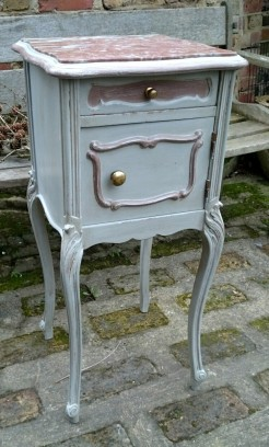 Antique French Marble Top Bedside
