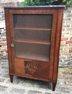 Antique French Lattice Front Cupboard