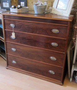 Late Georgian Early Victorian Mahogany Chest of Drawers