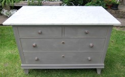 Marble top German Pine Chest of Drawers