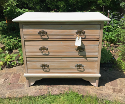 Lime Waxed Elm Edwardian Chest of Drawers