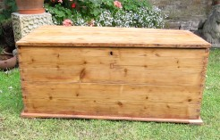 Large Pine Box Chest Trunk