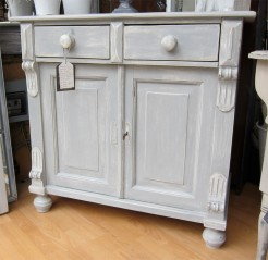 Grey Painted Antique Pine Sideboard