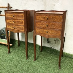 Pair of Vintage French In Laid Bedside Tables