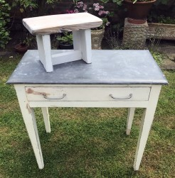 Rustic Zinc Top Table