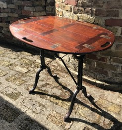 Butlers Tray Top on Vintage Metal Table Base
