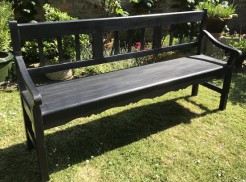 Black Painted Pine Bench