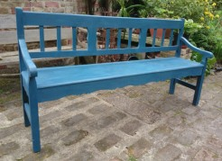 Large Pine Blue Bench