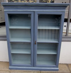 Mahogany Bookcase in Nordic Blue and Fjord Blue