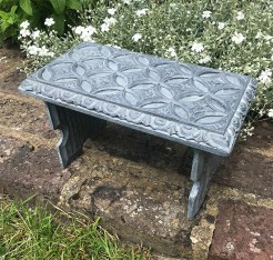 Vintage Carved Small Stool