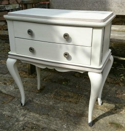 Painted French Bedside Table