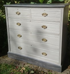 Grey Painted Antique Chest of Drawers