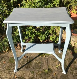 Vintage Table in Fjord Blue and Zinc Grey
